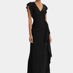 New RALPH LAUREN Womens Natakara Ruched Dress 286